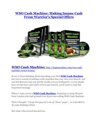 WSO Cash Machine Review-MEGA $22,400 Bonus & 65% DISCOUNT