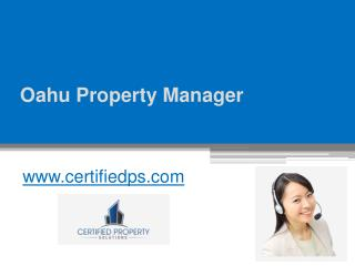 Oahu Property Manager - www.certifiedps.com