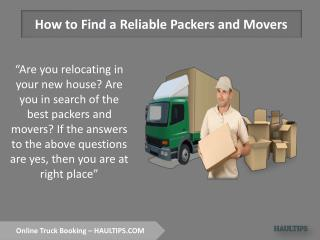 Hire Packers and Movers in Gurgaon Online
