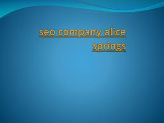 seo company alice springs