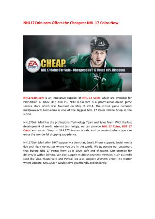 How many do you know about the NHL17Coin.com?