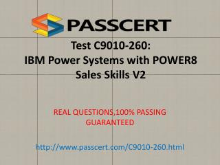 IBM C9010-260 exam questions and answers
