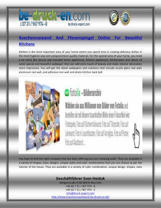 Kuechenruewand And Fliesenspiegel Online For Beautiful Kitchens