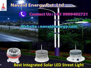 Best Integrated Solar LED Street Light, Navaid  91-9999492721