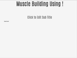 Muscle Building Using Only Bodyweight !