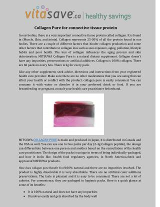 Collagen Pure for connective tissue protein