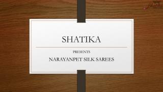 Collection of Narayanpet Sarees