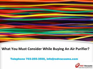 What You Must Consider While Buying An Air Purifier?