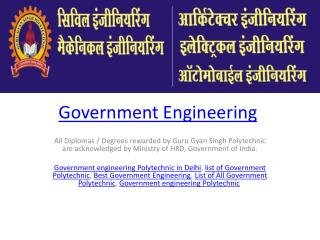 Government Engineering