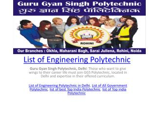 List of Engineering Polytechnic