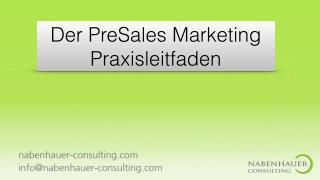 PreSales Marketing-Praxisleitfaden