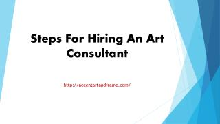 Steps For Hiring An Art Consultant