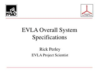 EVLA Overall System Specifications