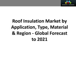 Roof Insulation Market worth 10.85 Billion USD by 2021