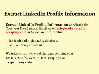 extract linkedin profile information