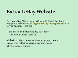 Extract Ebay Website