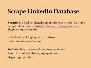 Scrape LinkedIn Database