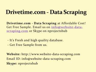 Drivetime.com - Data Scraping