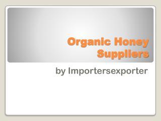 Organic honey wholesalers
