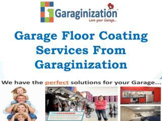 Garage Floor Coating Services From Garaginization