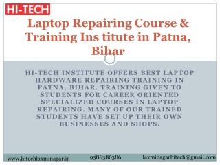 Laptop Repairing Course & Training Institute in Patna, Bihar