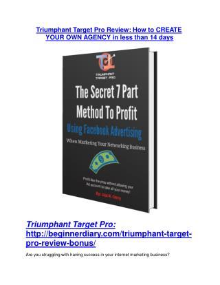 Triumphant Target Pro review & massive  100 bonus items