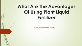 What Are The Advantages Of Using Plant Liquid Fertilizer