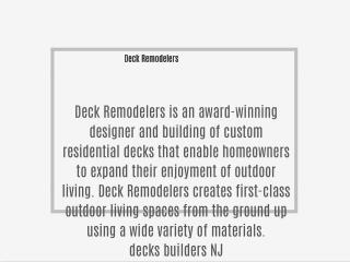 Deck Remodelers
