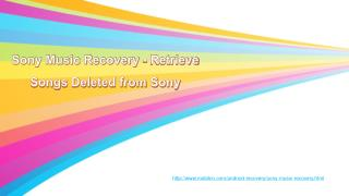 Sony Music Recovery - Retrieve Songs Deleted from Sony