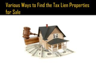 Real Estate Tax Lien Network - Provides Best Tax Liens Education Service
