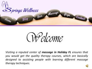 Massage Holiday FL Makes Sure You Would Be Relaxed in Just a Few Minutes