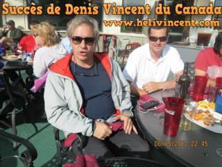 Succès de Denis Vincent du Canada