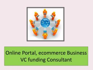 Online Portal, ecommerce Business VC funding Consultant