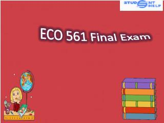ECO 561 Final Exam | ECO 561 Final Exam Answer | Student E Help