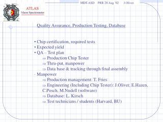 MDT-ASD    PRR 28 Aug  02      J.Oliver