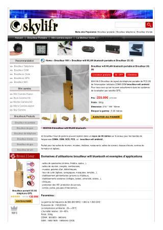 Brouilleur wifi/WLAN bluetooth portable