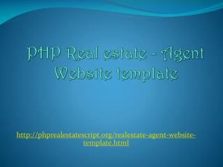 PHP Realestate - Agent Website template