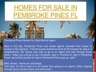Homes For Sale In Cooper City FL