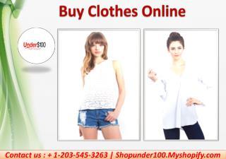 Buy Clothes Online  - Shopunder100.Myshopify
