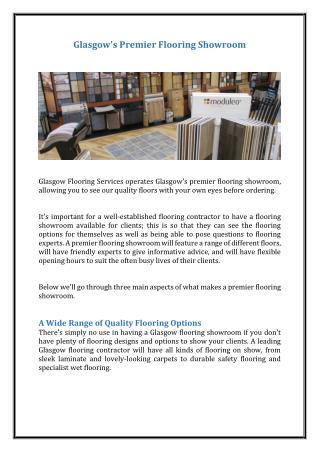 Glasgow's Premier Flooring Showroom