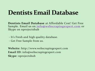 Dentists email database