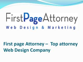 First page Attorney – Top Attorney Web Design Company