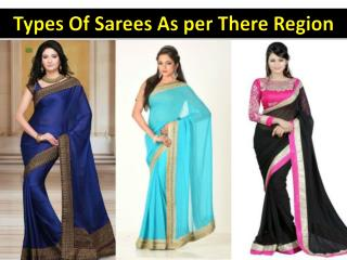 Different Types Of Sarees As per There Region