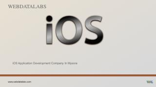 iOS application development company in Mysore - Webdatalabs