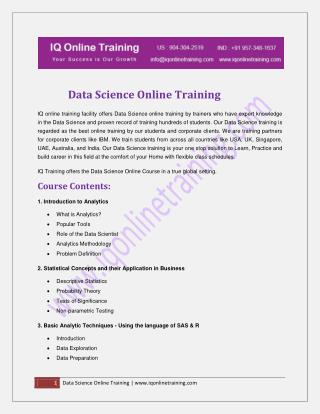 Data Science Tutorials for Beginners in PDF & PPT | Big Data Scienc