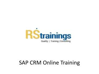 SAP CRM Online Training Classes