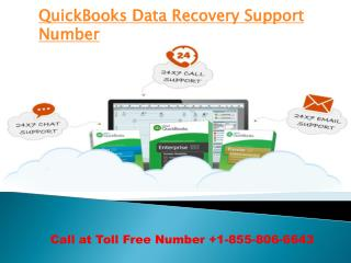 QuickBoks Data recovery Support Number 1-8558066643