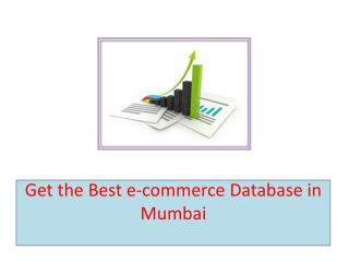 Get the Best e-commerce Database in Mumbai