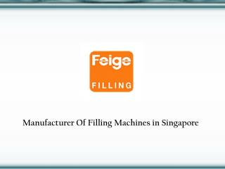 Filling Machines in Singapore