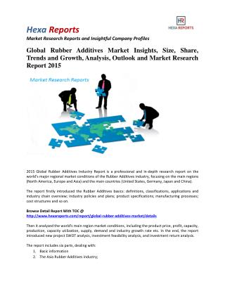 Global Rubber Additives Market Share | 2015 Industry Research Report By Hexa Reports